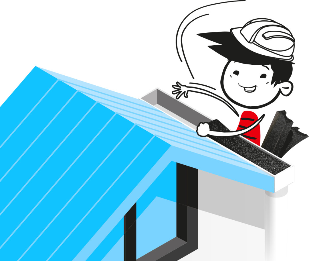 Aglostic® • Illustration : Application on gutter